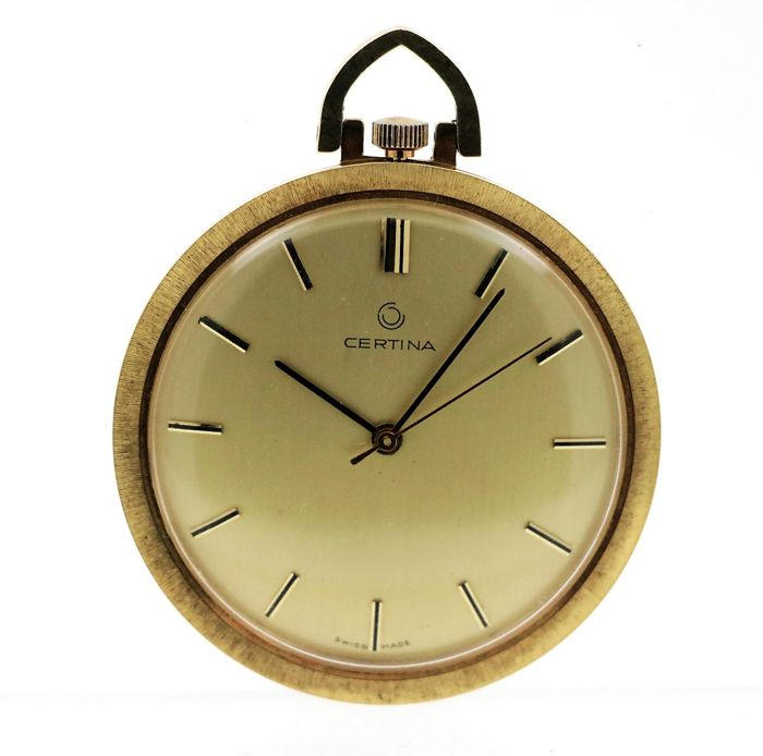 Certina - 14 kt yellow gold pocket watch - men's - 1960-1969