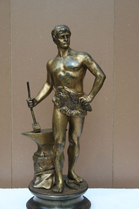Maurice Constant (1892-1970) - Bronze sculpture of a smith - France - ca. 1920