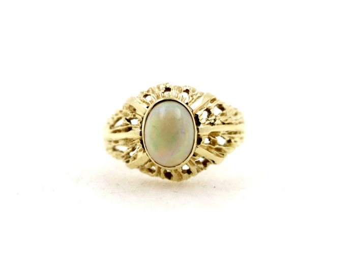 14 kt Gelbgold - Ring - 1.25 ct Opal