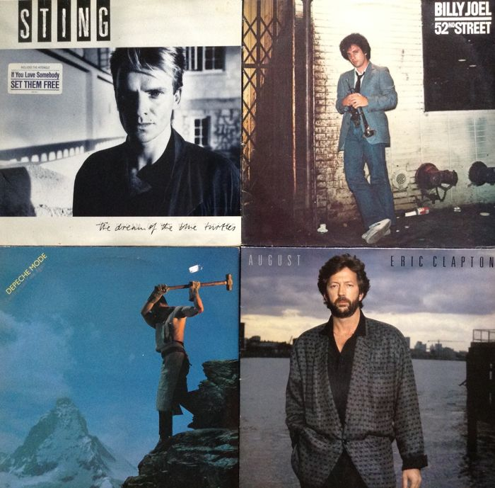 14 LP's- Sting /Billy Joel/Depeche Mode/Eric Clapton/Bob Dylan/10CC/Joe Cocker/Gary Moore