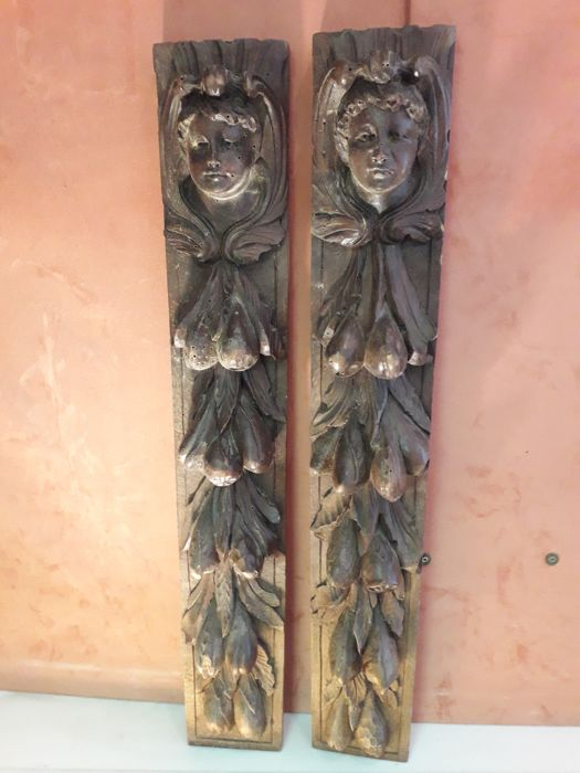 Antique carved wood panels of the late 1800s - Italy, 19th century