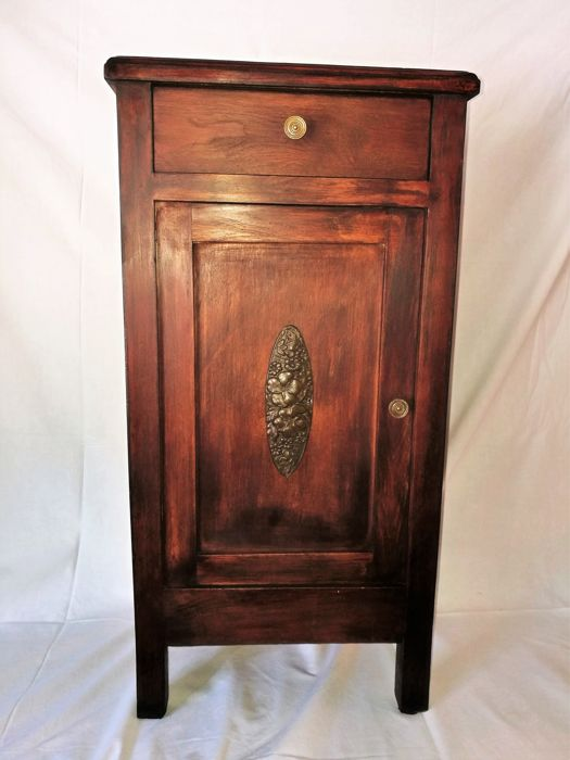 Wonderful Art Nouveau style bedside table of the early 1900s, origin: Emilia Romagna, Italy