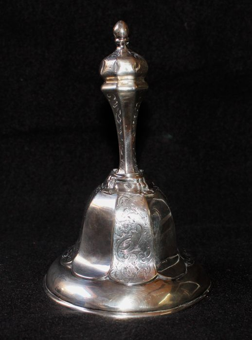 Silver table bell, the Netherlands, circa 1860