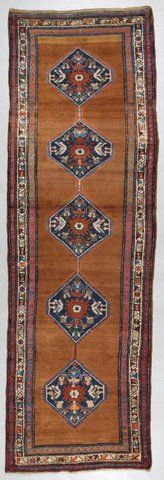 Semi-antique high quality Sarab, 388 x 123, wool on wool
