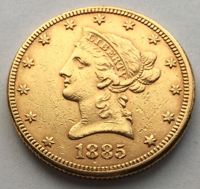 Stati Uniti - 10 Dollar 1885 - Liberty Head - Oro