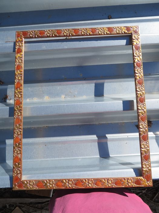 Four gold-coloured identical wooden Italian frames -1st half of 20th century.