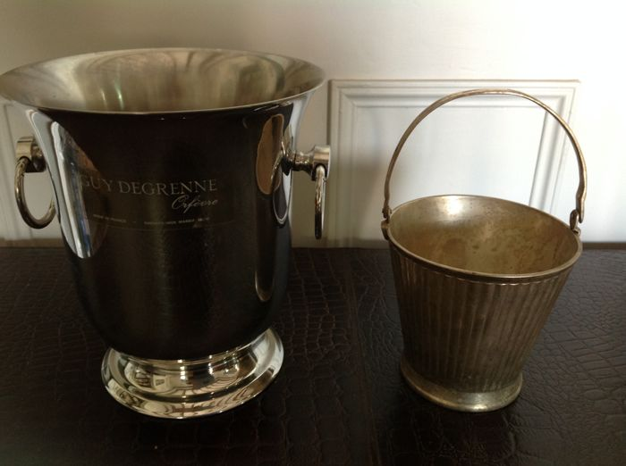Lot of 1 'Guy Degrenne' champagne bucket + 1 ice bucket - Middle of the 20th century