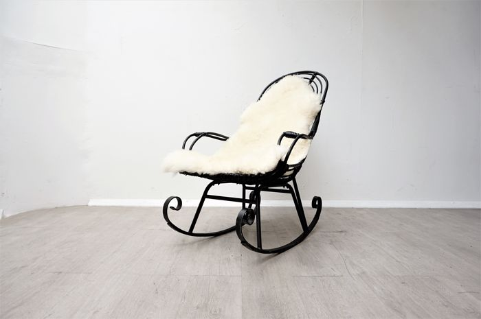 Remarkable Manufacturer Unknown Vintage Rattan Bamboo Rocking Chair Beatyapartments Chair Design Images Beatyapartmentscom