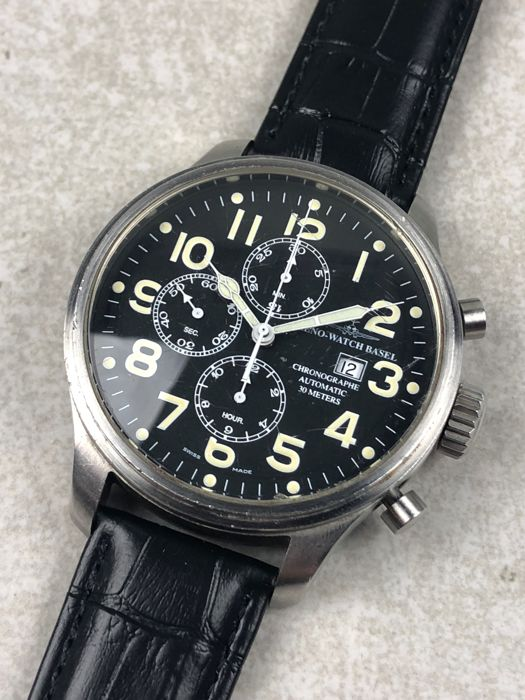 "Zeno-Watch Basel - Pilot Oversized Chronograph Automatic - ""NO RESERVE PRICE"" - 8557 - Hombre - 2000 - 2010"