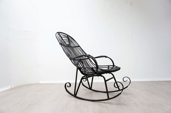 Miraculous Manufacturer Unknown Vintage Rattan Bamboo Rocking Chair Beatyapartments Chair Design Images Beatyapartmentscom