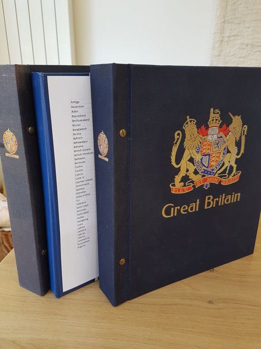 Great Britain 1868/1990 - Davo albums and English colonies