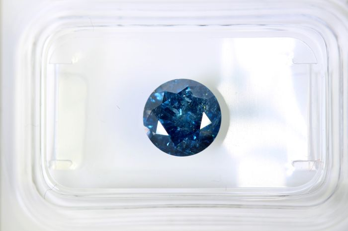 Fancy Deep Blue Diamond - 1.56 ct