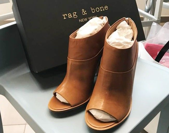 Rag & Bone - New - Brown - Open toe - Heel   - NO RESERVE -Never Used - Size 40 - Zipped Boots