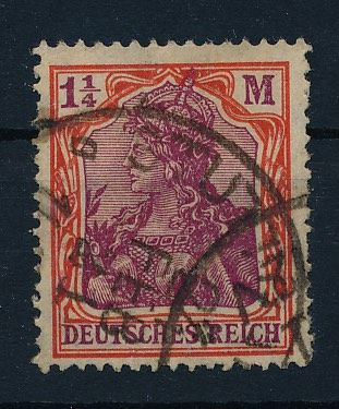 German Empire 1920 - Germania 1 1/4 (M) ark with quatrefoil watermark - Michel Nr. 151 Y mit Fotoattest Bauer BPP