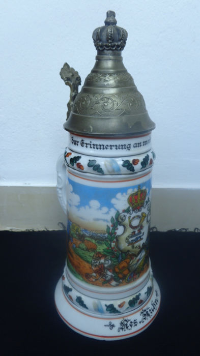 Reservist's Tankard, circa 1900 - 'Zur Erinnerung an meine Dienstzeit', Marked on the Base