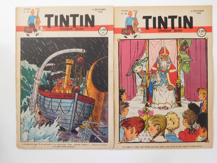 Tintin (magazine) - Journal Tintin 27 à 53 - 27 fascicules - Softcover - Belgian edition - (1948)