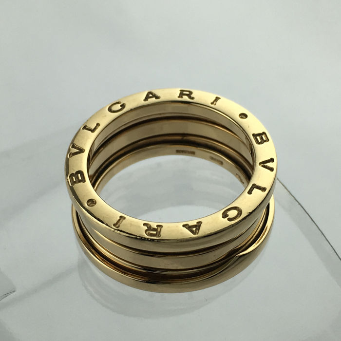 3547adc1f698f Bvlgari - B.Zero1 Collection - 3-band 18k Yellow Gold Size 55 Lady's ...