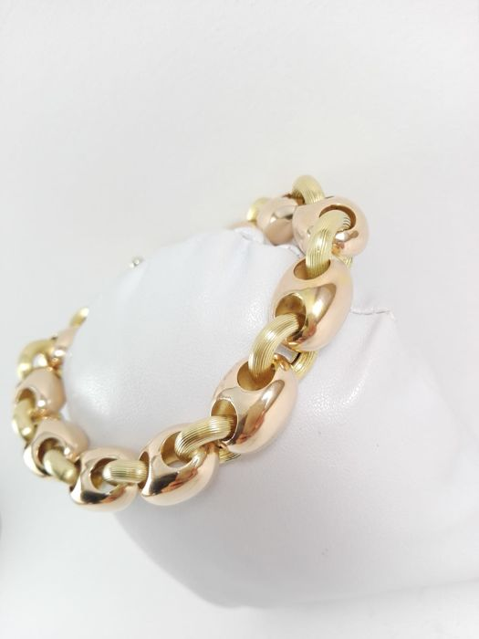 Women's bracelet in 18 kt yellow and rose gold Weight: 27.4 g