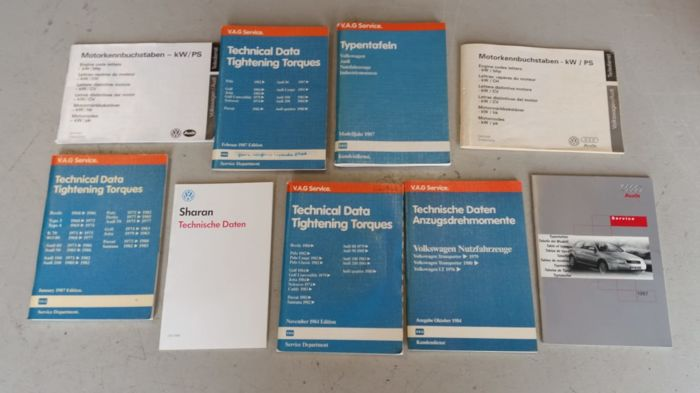 21x Volkswagen / Audi internal technical manuals