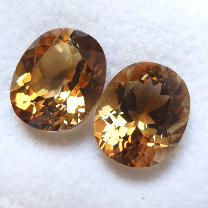 Pair of Topazes – 13.40 ct
