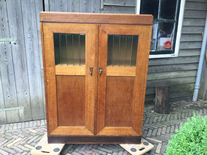 Amsterdam school  Art Deco oak cupboard