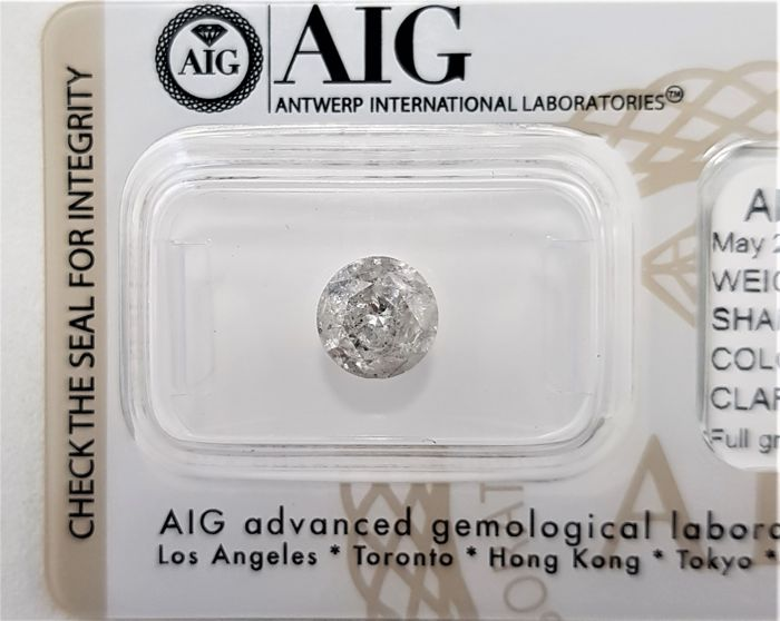 1.51 ct - Natural White Diamond - F Color - I2 - EX/EX/EX - No Reserve!