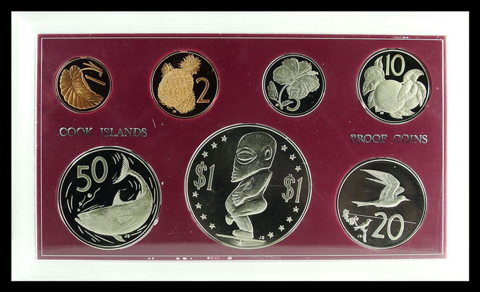 Cook Islands - Year set with 1 Cent to 1 Dollar 1972