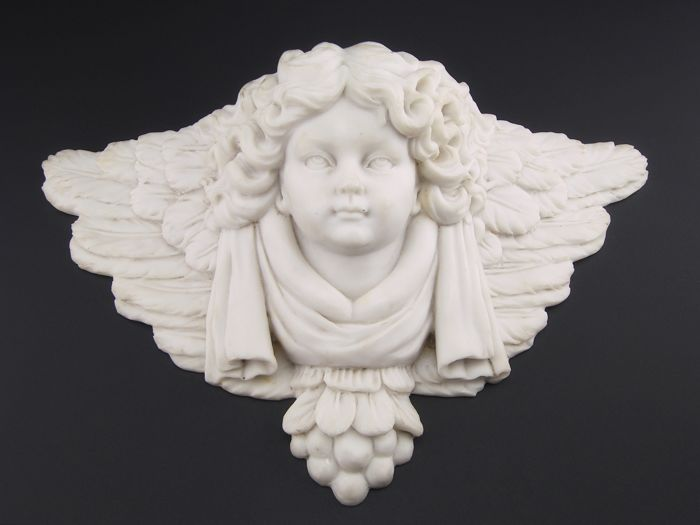 Antique white marble stoup, Italy 19th century