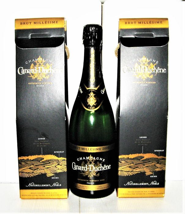 Canard-Duchêne 2008 Millésimé Champagne - Lot of 3 bottles (75cl)