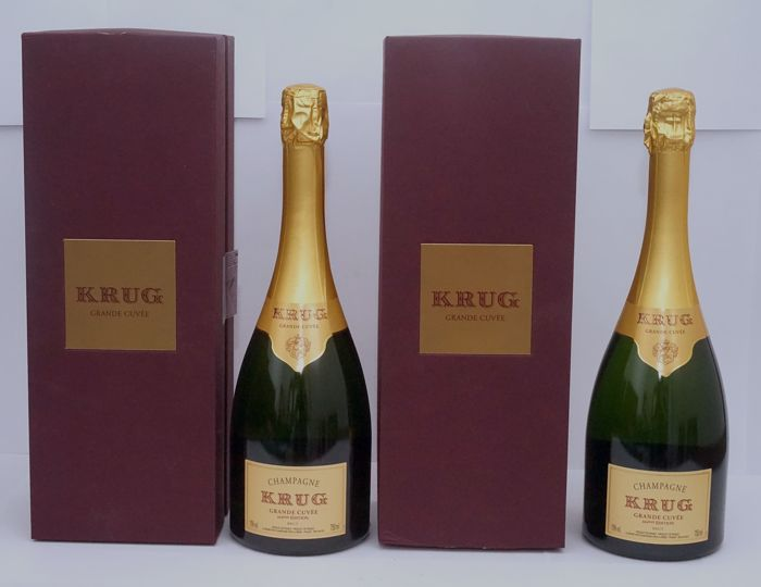 Krug Grand Cuvèe 164eme Ed. - 2 bottles (75cl) in Own Display Case