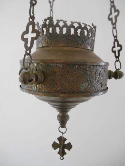 Beautifully decorated thurible from the late 19th century - France
