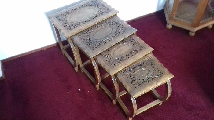A set of 4 side-tables