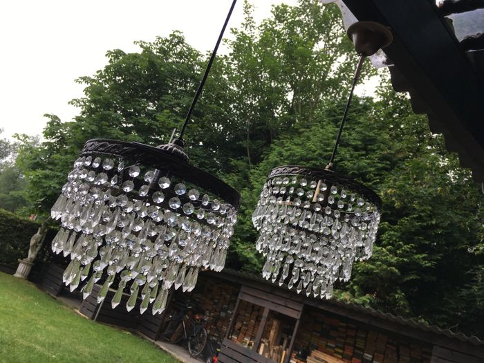 Two French chandeliers, 1950s