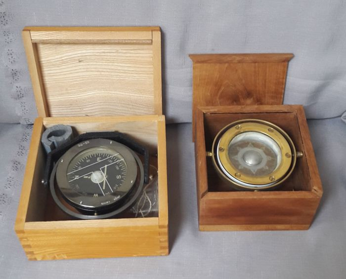 Saura Keiki and unknown compass in box.