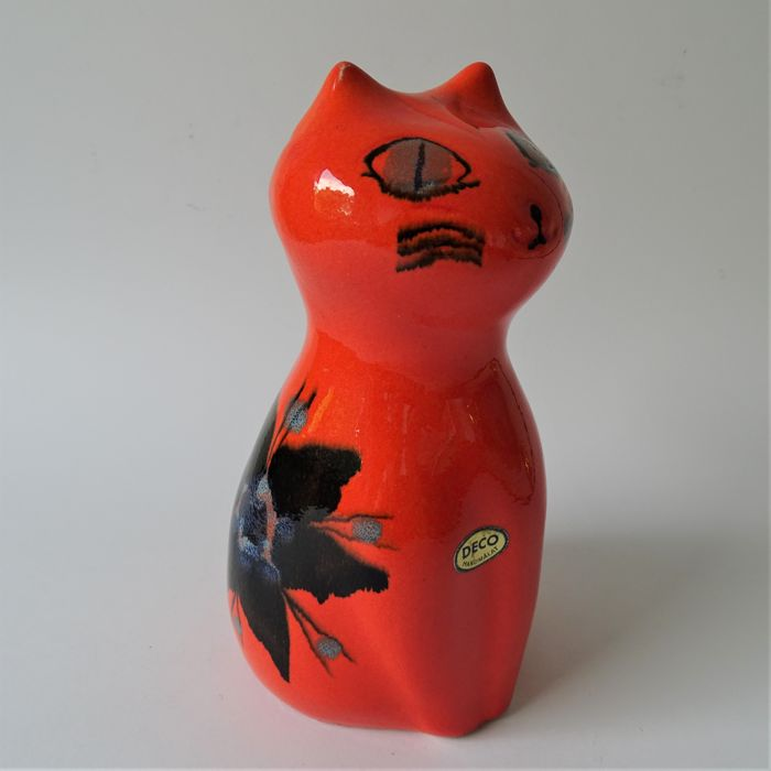 Gunnar Andersson (Deco) - Orange cat - Signed