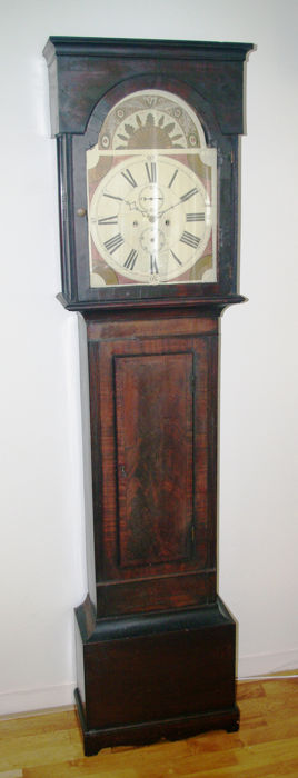 Scottish longcase clock with painted dial - 1840 period