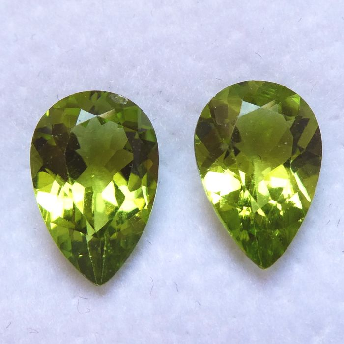 Peridots Matching Pair – 5.23 ct – No Reserve Price