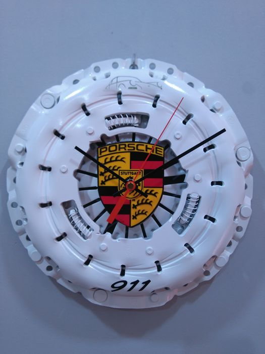 Clock with PORSCHE 911 exclusive decoration. 21st century