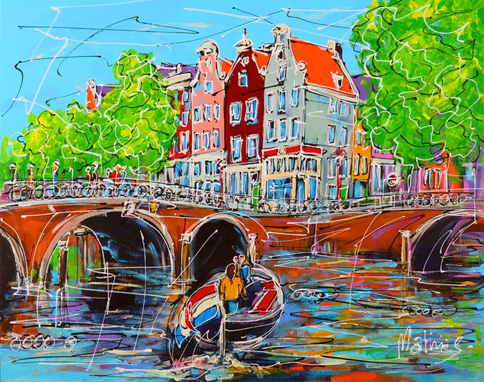 Mathias - Amsterdam of Expressions, Dutch bridge and boat