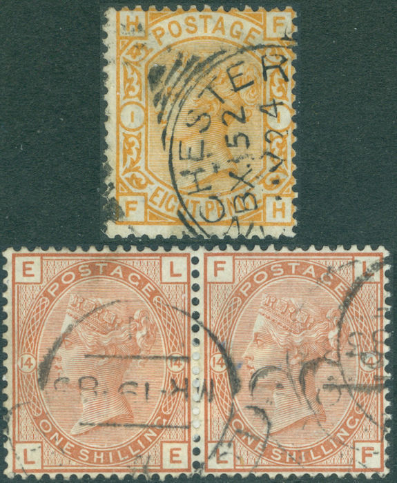 Great Britain 1873/1880 - A small selection - Stanley Gibbons 156 and 163
