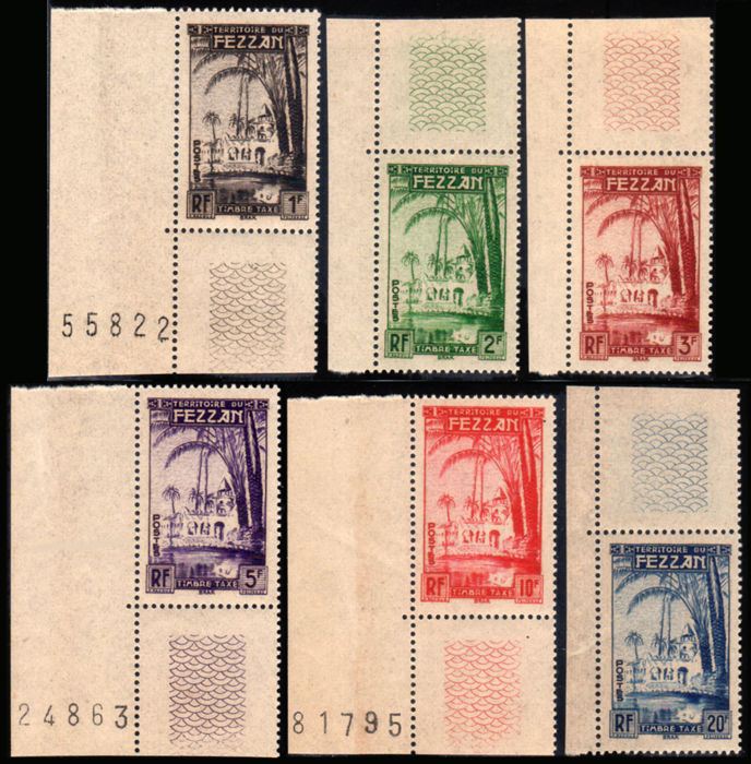 Fezzan 1946/1950 - Fezzan and Ghadamès collection - Sassone NN. S1, S5, S14