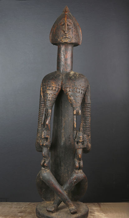 Important ancient maternity sculpture carved in wood - DOGON - Mali