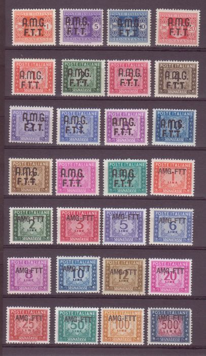 Triest - Zone A 1947/1954 - Signed complete series - Sassone NN. 1/28