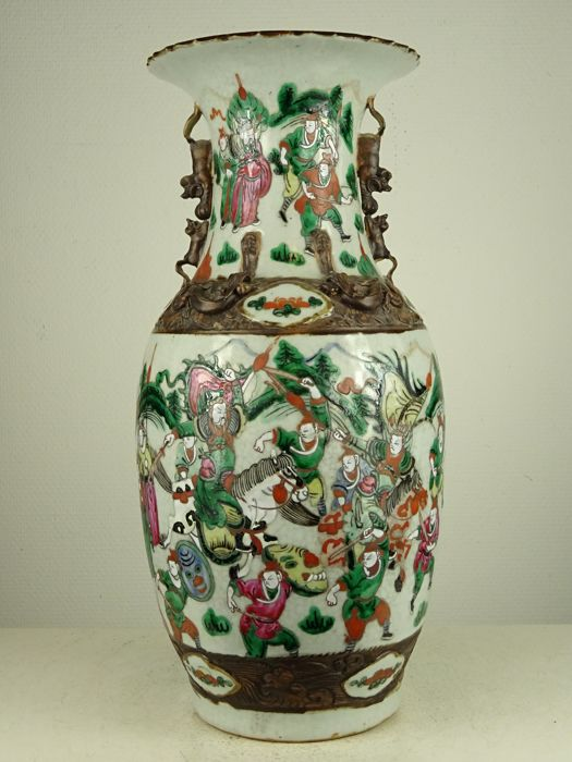 Nanking porcelain vase with rare Kangxi reign mark - China - ca. 1900
