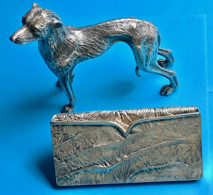 Miniature dog and business card holder - Italy