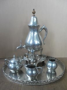Metawa tin pewter coffee canister with tap, Tiel Holland, late 20th century
