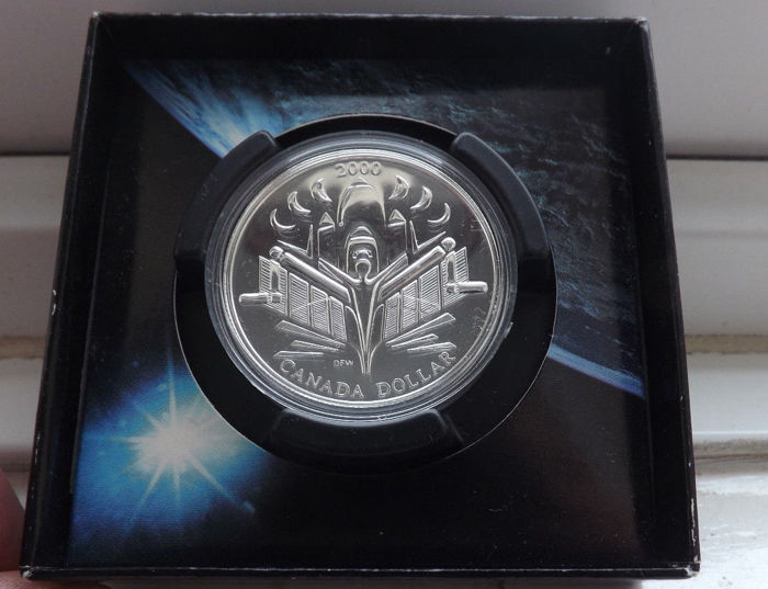 Canada - 1 Dollar 2000 Voyage of Discovery - Silver