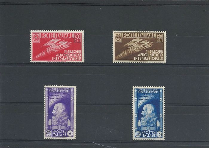 Italy Kingdom 1935 - 1st International Aeronautical Exhibition - Sassone NN. 384/387