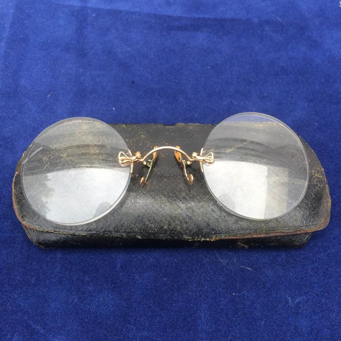 14 kt gold glasses - Germany - ca. 1920