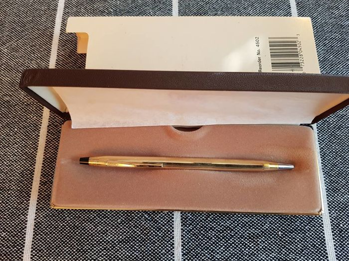 Vintage Cross 10kt rolled gold ballpoint in box